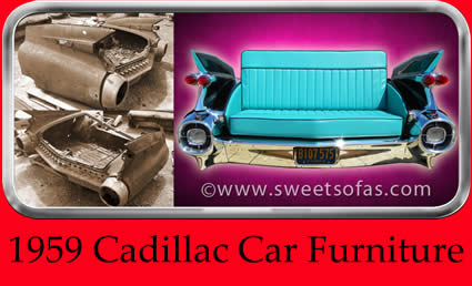 1959 Cadillac Car Furniture | Built By Sweet Sofas