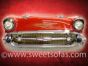 Red 1957 Chevrolet Wall Art