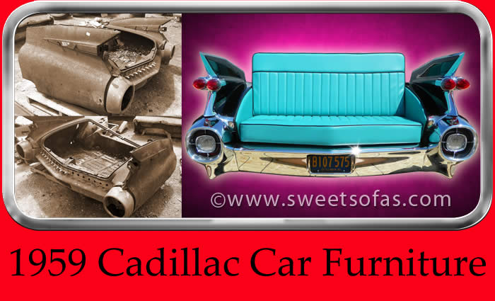 ... 1959 Cadillac Car Couch | Built By Sweet Sofas