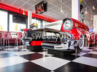 1957 Chevy Front Split Booth
