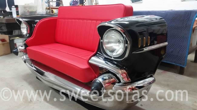 Car Furniture 57 Chevy Bel Air Front End Sofa