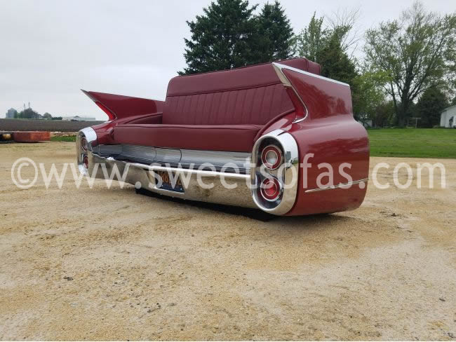 Car couches by sweet sofas 1960 cadillac car parts couch sciox Images