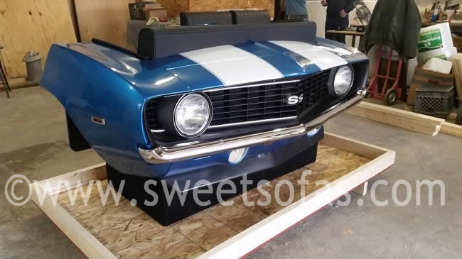 Lovely 69 Camaro SS Front Reverse Couch|Classic Car Furniture