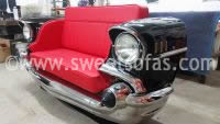 Car Furniture | 57 Chevy Bel Air front end sofa