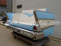 57 Chevy 210 Rear Sofa with Flying V upholstery