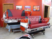 Pair of 1957 Chevy Rear Sofas