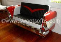 1957 Chevy 210 Rear Sofa V Upholstery