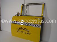 Checkered Cab Door Hanging