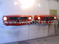 Pair of 65 Mustang Wall Hangers