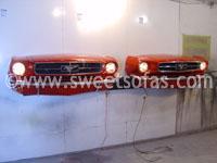 Pair of 65 Mustang Wall Hangers