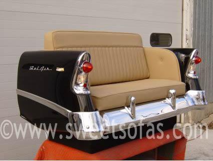 56 Chevy Rear Sofa