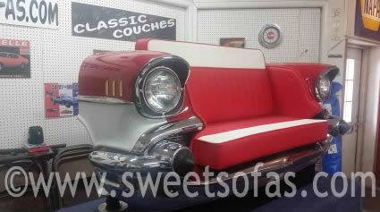 57 Chevy Front End Sofa